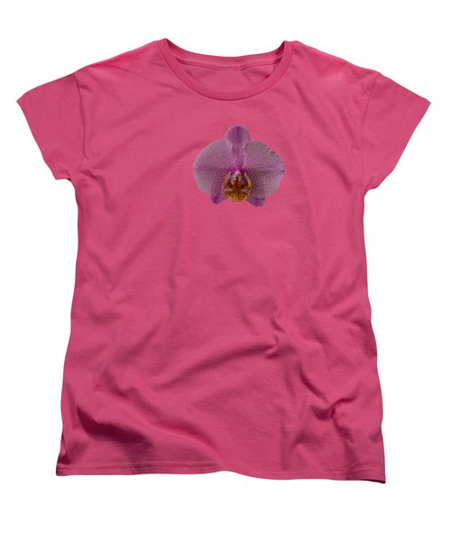 Leopard Prince Phalaenopsis Orchid Women's T-Shirt (Standard Cut) by Zina Stromberg