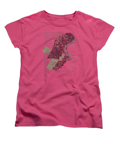 London Classic Map Women's T-Shirt (Standard Cut) by Jasone Ayerbe- Javier R Recco