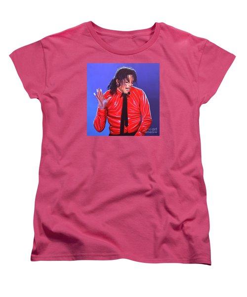 Michael Jackson 2 Women's T-Shirt (Standard Cut) by Paul Meijering