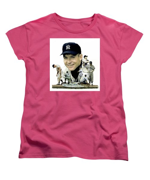 Mickey Mantle Legacy, II  Women's T-Shirt (Standard Cut) by Iconic Images Art Gallery David Pucciarelli