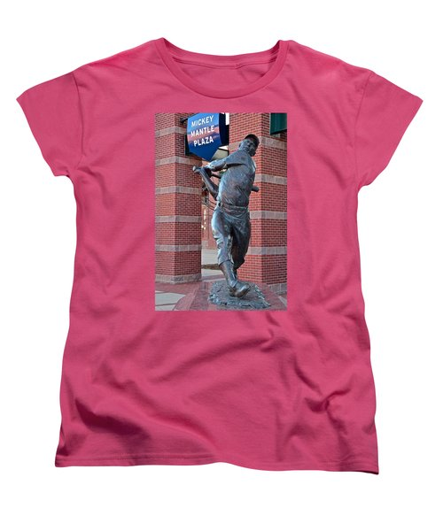 Mickey Mantle Plaza Women's T-Shirt (Standard Cut) by Frozen in Time Fine Art Photography