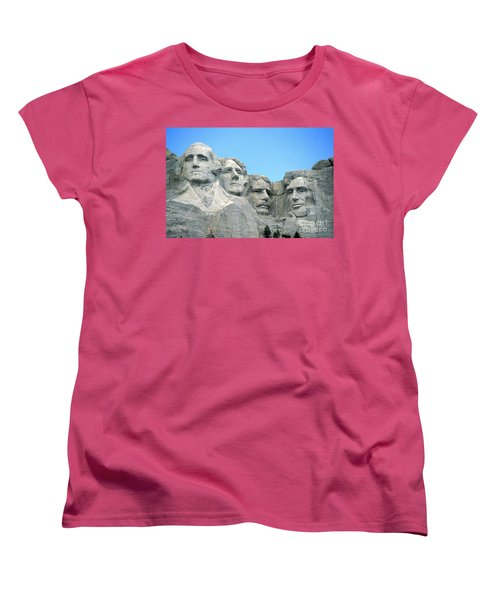 Mount Rushmore Women's T-Shirt (Standard Cut) by American School