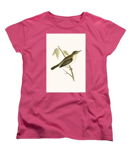 Olivaceous Warbler Women's T-Shirt (Standard Cut) by English School