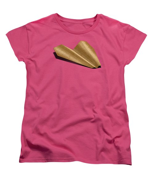 Paper Airplanes Of Wood 6 Women's T-Shirt (Standard Cut) by YoPedro