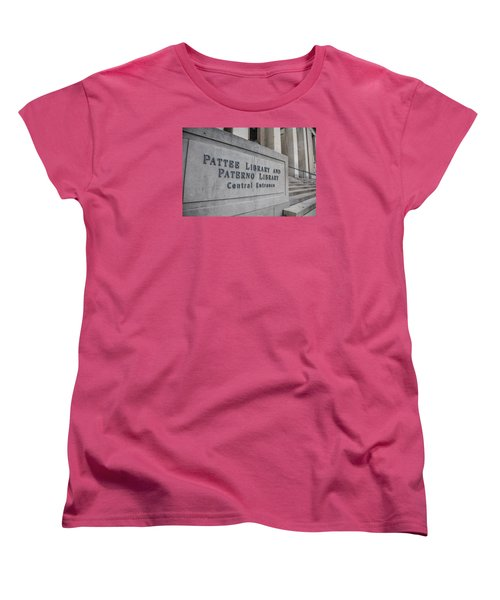 Paterno Library At Penn State  Women's T-Shirt (Standard Cut) by John McGraw