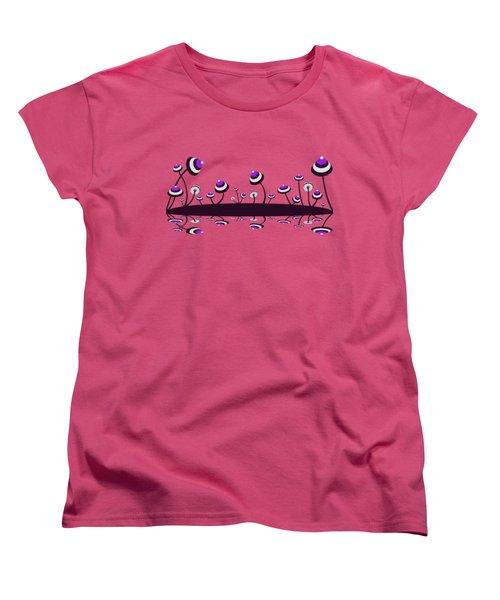 Peculiar Mushrooms Women's T-Shirt (Standard Cut) by Anastasiya Malakhova
