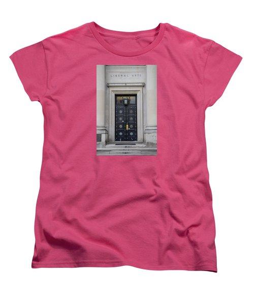 Penn State University Liberal Arts Door  Women's T-Shirt (Standard Cut) by John McGraw
