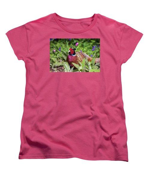 Pheasant Women's T-Shirt (Standard Cut) by Martin Newman