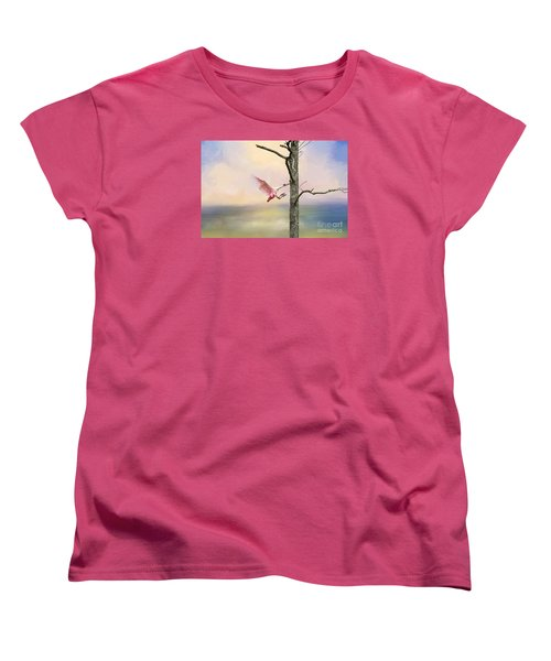 Pink Wonder Women's T-Shirt (Standard Cut) by Bonnie Barry
