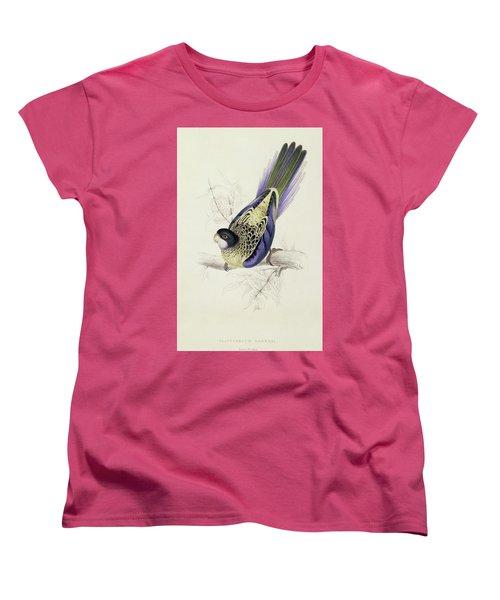 Platycercus Brownii, Or Browns Parakeet Women's T-Shirt (Standard Cut) by Edward Lear