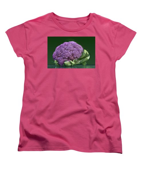 Purple Cauliflower Women's T-Shirt (Standard Cut) by Nikolyn McDonald