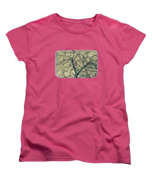 Red Apples In Empty Garden Women's T-Shirt (Standard Cut) by Konstantin Sevostyanov