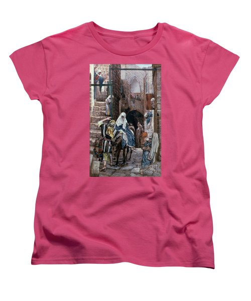 Saint Joseph Seeks Lodging In Bethlehem Women's T-Shirt (Standard Cut) by Tissot