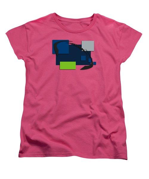 Seattle Seahawks Abstract Shirt Women's T-Shirt (Standard Cut) by Joe Hamilton