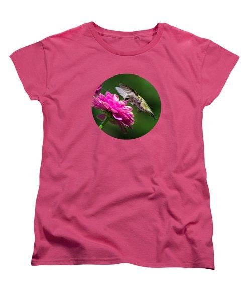 Simple Pleasure Hummingbird Delight Women's T-Shirt (Standard Cut) by Christina Rollo