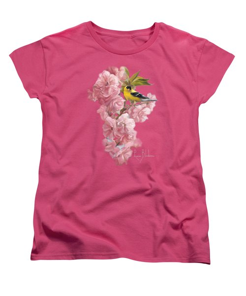 Spring Blossoms Women's T-Shirt (Standard Cut) by Lucie Bilodeau