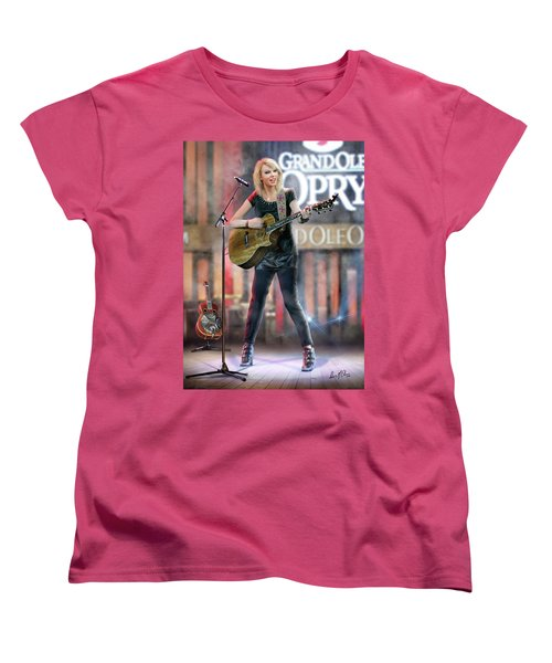 Taylor At The Opry Women's T-Shirt (Standard Cut) by Don Olea