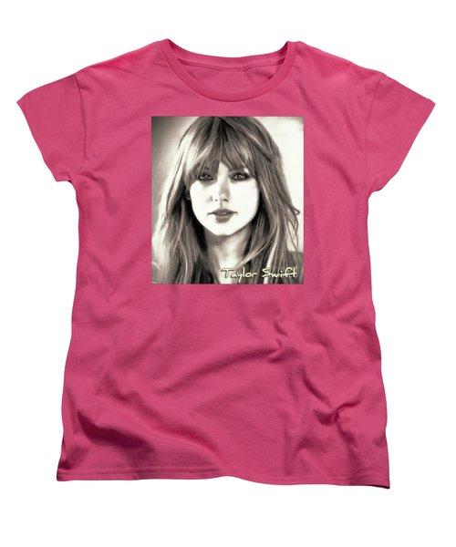 Taylor Swift - Glowing Beauty Women's T-Shirt (Standard Cut) by Robert Radmore