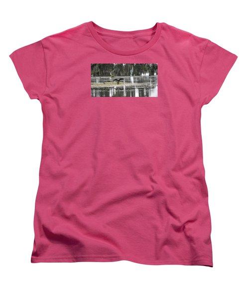 The Announcer  Women's T-Shirt (Standard Cut) by Betsy Knapp