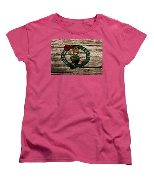 The Boston Celtics W1 Women's T-Shirt (Standard Cut) by Brian Reaves