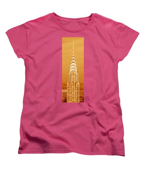 Chrysler Building At Sunset Women's T-Shirt (Standard Cut) by Panoramic Images
