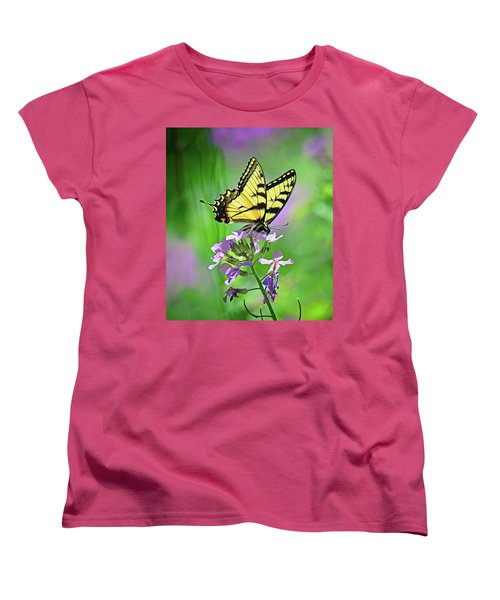 Women's T-Shirt (Standard Cut) featuring the photograph Tiger Swallowtail by Rodney Campbell