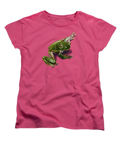 Tree Frog  Women's T-Shirt (Standard Cut) by Owen Bell