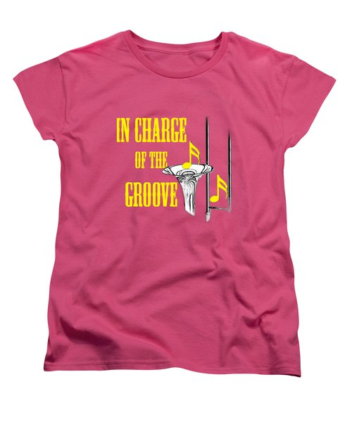 Trombones In Charge Of The Groove 5534.02 Women's T-Shirt (Standard Cut) by M K  Miller