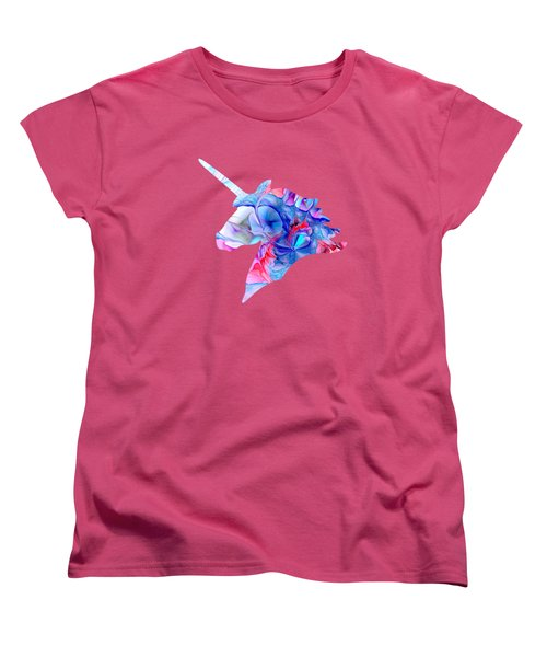 Unicorn Dream Women's T-Shirt (Standard Cut) by Anastasiya Malakhova