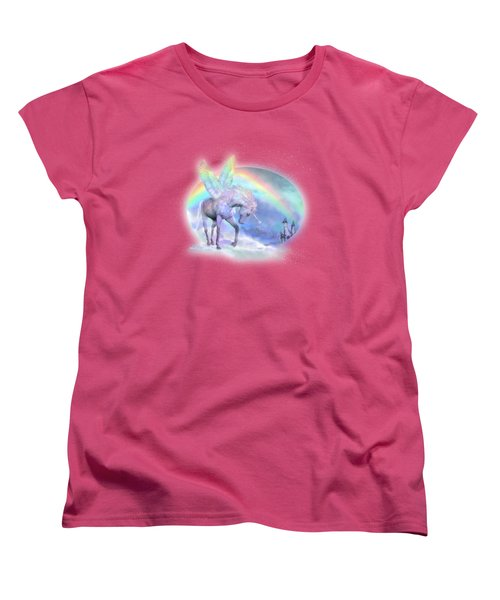 Unicorn Of The Rainbow Women's T-Shirt (Standard Cut) by Carol Cavalaris