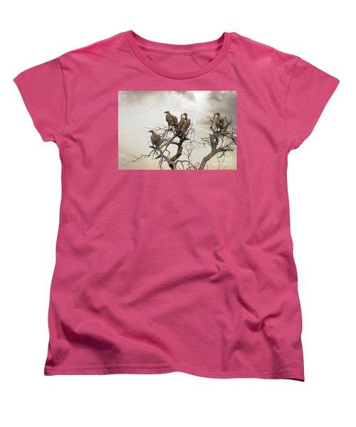 Vultures In A Dead Tree.  Women's T-Shirt (Standard Cut) by Jane Rix