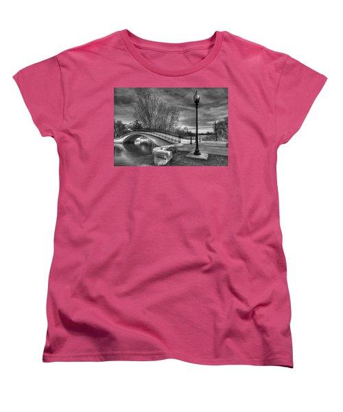 Women's T-Shirt (Standard Cut) featuring the photograph Winter's Bridge by Rodney Campbell