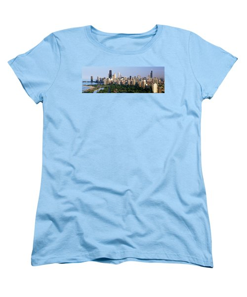 Buildings In A City, View Of Hancock Women's T-Shirt (Standard Cut) by Panoramic Images