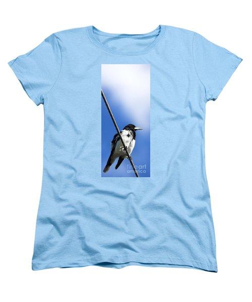 Magpie Up High Women's T-Shirt (Standard Cut) by Jorgo Photography - Wall Art Gallery