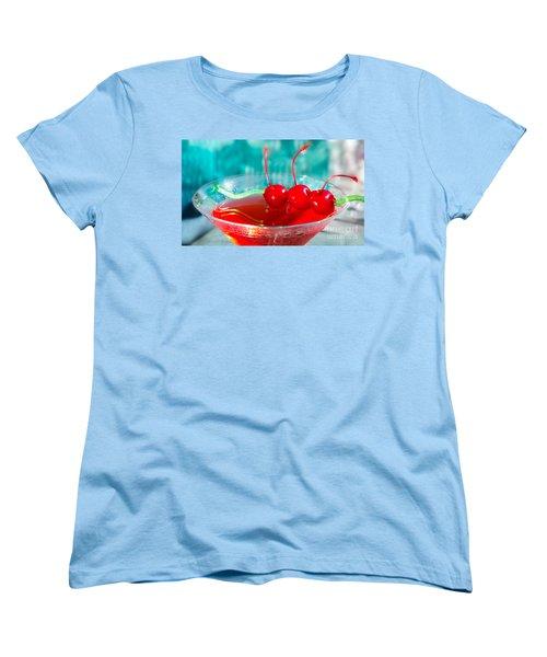Shirley Temple Drink Women's T-Shirt (Standard Cut) by Iris Richardson