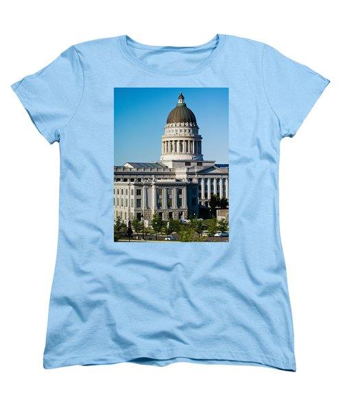 Utah State Capitol Building, Salt Lake Women's T-Shirt (Standard Cut) by Panoramic Images