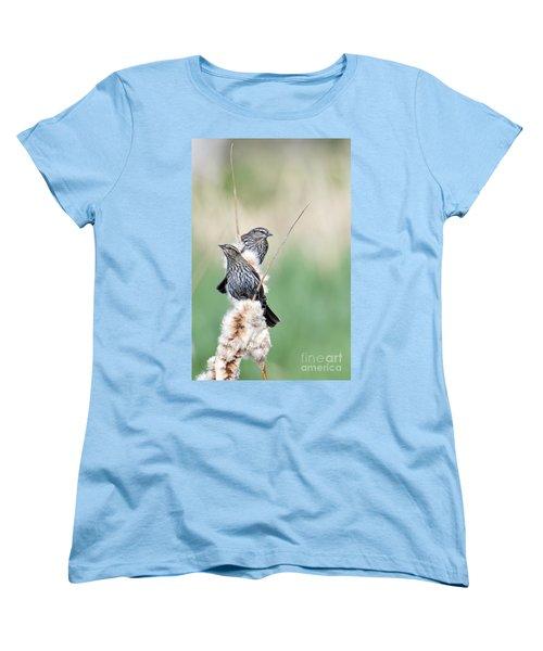 Blackbird Pair Women's T-Shirt (Standard Cut) by Mike  Dawson