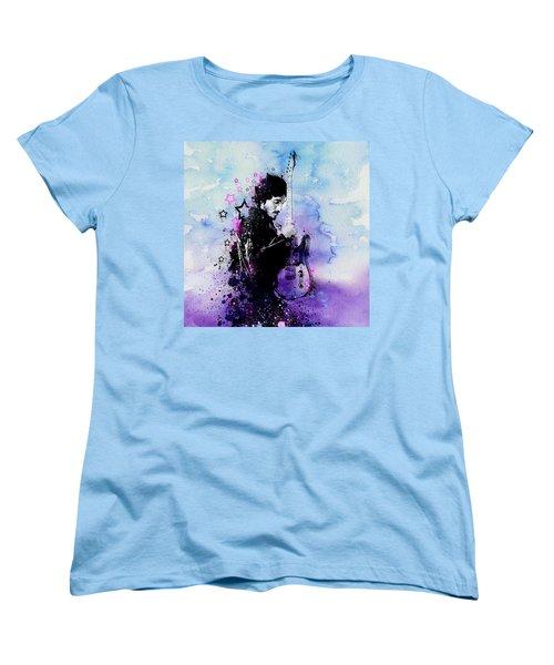 Bruce Springsteen Splats And Guitar 2 Women's T-Shirt (Standard Cut) by Bekim Art