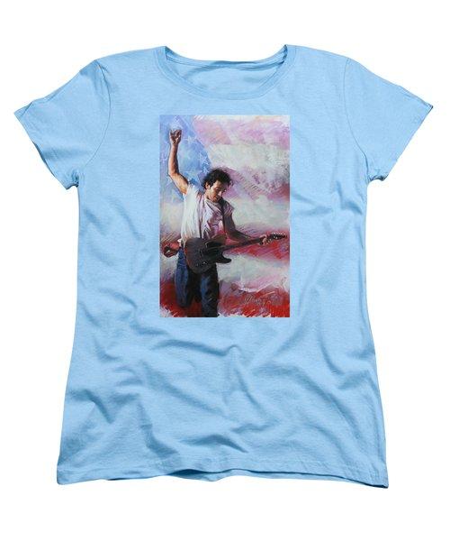 Bruce Springsteen The Boss Women's T-Shirt (Standard Cut) by Viola El