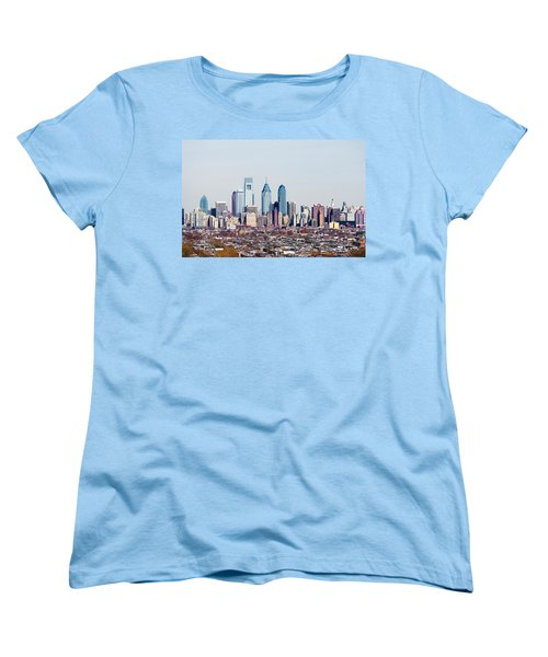 Buildings In A City, Comcast Center Women's T-Shirt (Standard Cut) by Panoramic Images