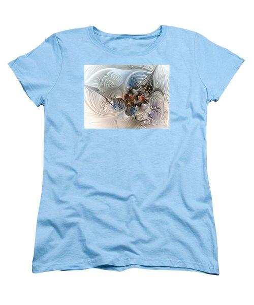 Cloud Cuckoo Land-fractal Art Women's T-Shirt (Standard Cut) by Karin Kuhlmann