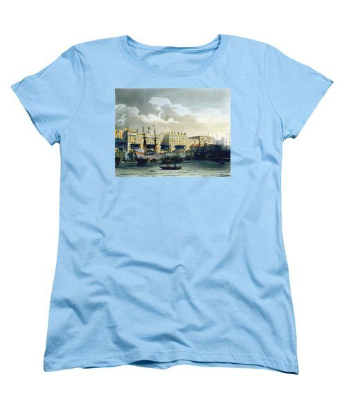 Custom House From The River Thames Women's T-Shirt (Standard Cut) by T. & Pugin, A.C. Rowlandson