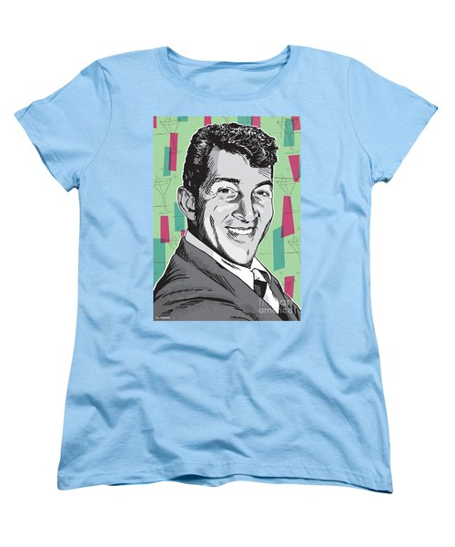 Dean Martin Pop Art Women's T-Shirt (Standard Cut) by Jim Zahniser