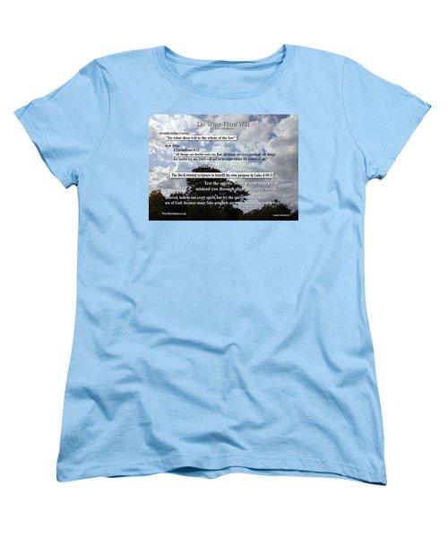Do What Thou Wilt Women's T-Shirt (Standard Cut) by Bible Verse Pictures