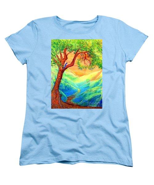 Dreaming Of Bluebells Women's T-Shirt (Standard Cut) by Jane Small