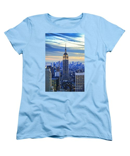 Empire State Building New York City Usa Women's T-Shirt (Standard Cut) by Sabine Jacobs