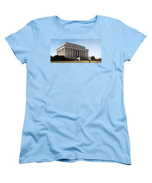 Facade Of The Lincoln Memorial, The Women's T-Shirt (Standard Cut) by Panoramic Images