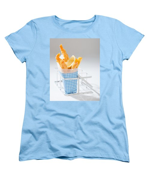 Fish And Chips Women's T-Shirt (Standard Cut) by Amanda Elwell