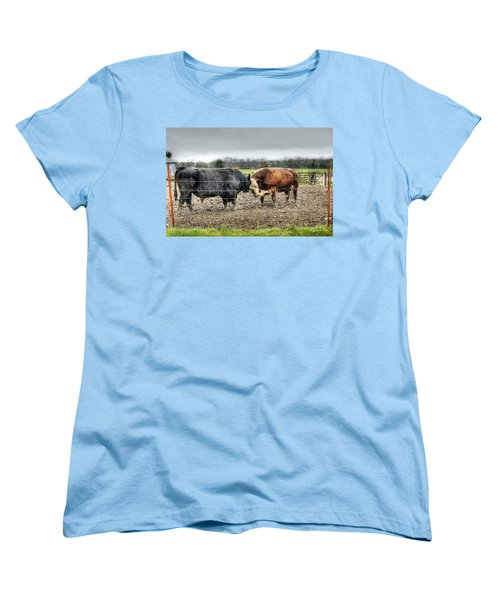 Head To Head Women's T-Shirt (Standard Cut) by Cricket Hackmann