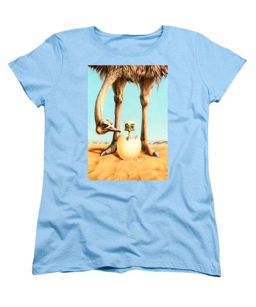 Hello Mum Women's T-Shirt (Standard Cut) by Andrew Farley